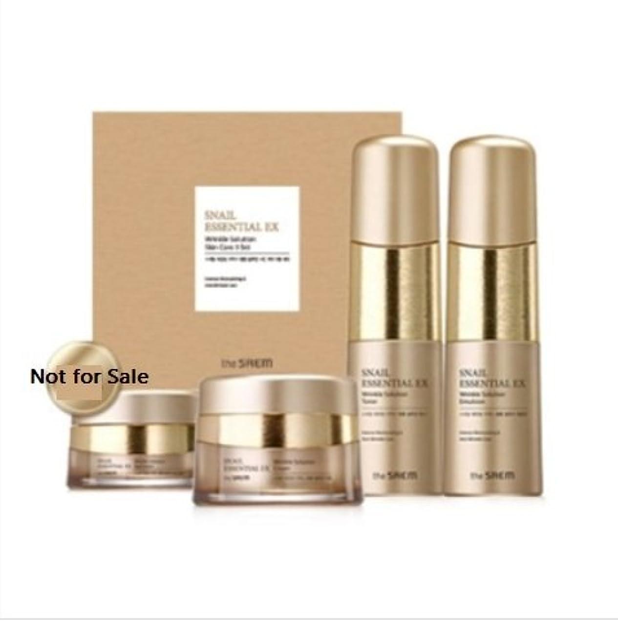 骨折吸い込む満足させる[ザセム] The Saem [スネイル エッセンシャル EXリンクルソリューション スキンケア 3種セット] (Snail Essential EX-Wrinkle Solution Skin Care 3Set) [...