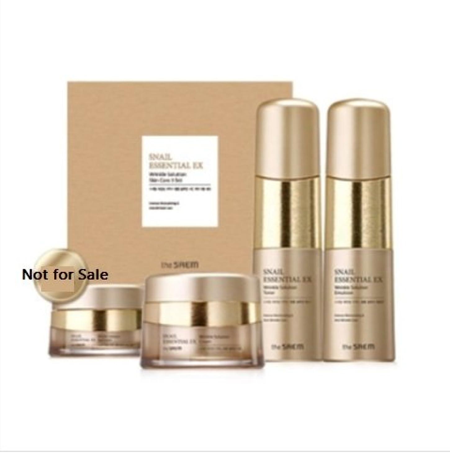 野ウサギバング差し控える[ザセム] The Saem [スネイル エッセンシャル EXリンクルソリューション スキンケア 3種セット] (Snail Essential EX-Wrinkle Solution Skin Care 3Set) [...
