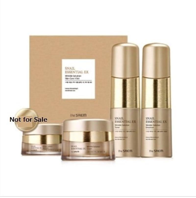 スキッパー友情傷つける[ザセム] The Saem [スネイル エッセンシャル EXリンクルソリューション スキンケア 3種セット] (Snail Essential EX-Wrinkle Solution Skin Care 3Set) [...