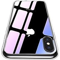 【CASEKOO】iphone XS ケース 強化ガラスケース クリア 硬度9H 耐衝撃カバー アイフォン XS ケース 透明 ハードケース qi対応