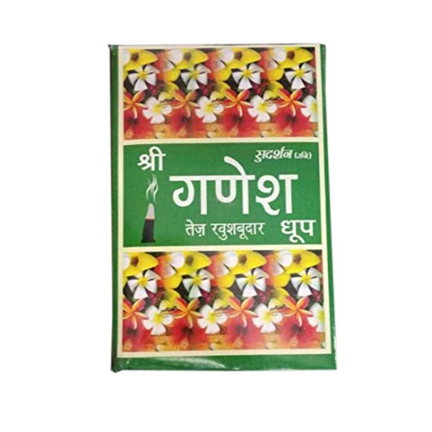 デマンド思い出氏Total Home :Sudarshan Shri Ganesh Highly Perfumed dhoop Fragrance for Positivity & Freshness Fragrance Dhoop Batti (Pack of 24) Box 1