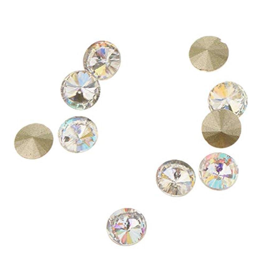 民兵管理しますコンパクトToygogo 10ピース/個ネイルアート3Dガラスダイヤモンドのヒントデコレーションビューティーネイルチャーム - C