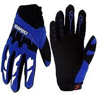 Gogokids Kids Cycling Gloves - Children Full Finger Sports Gloves for Skating, Road Bicycle, Mountain Bike, Skateboard, Blue M