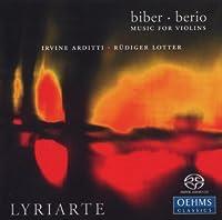 ビーバー:ヴァイオリン・ソナタ第3番, 第5番, 第6番/ベリオ:34の二重奏曲(抜粋)/セクエンツァ VIII (アルディッティ/リリアルテ)