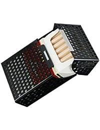 タバコ ケース 軽量 アルミ パンチング 連動タイプ (ブラック)