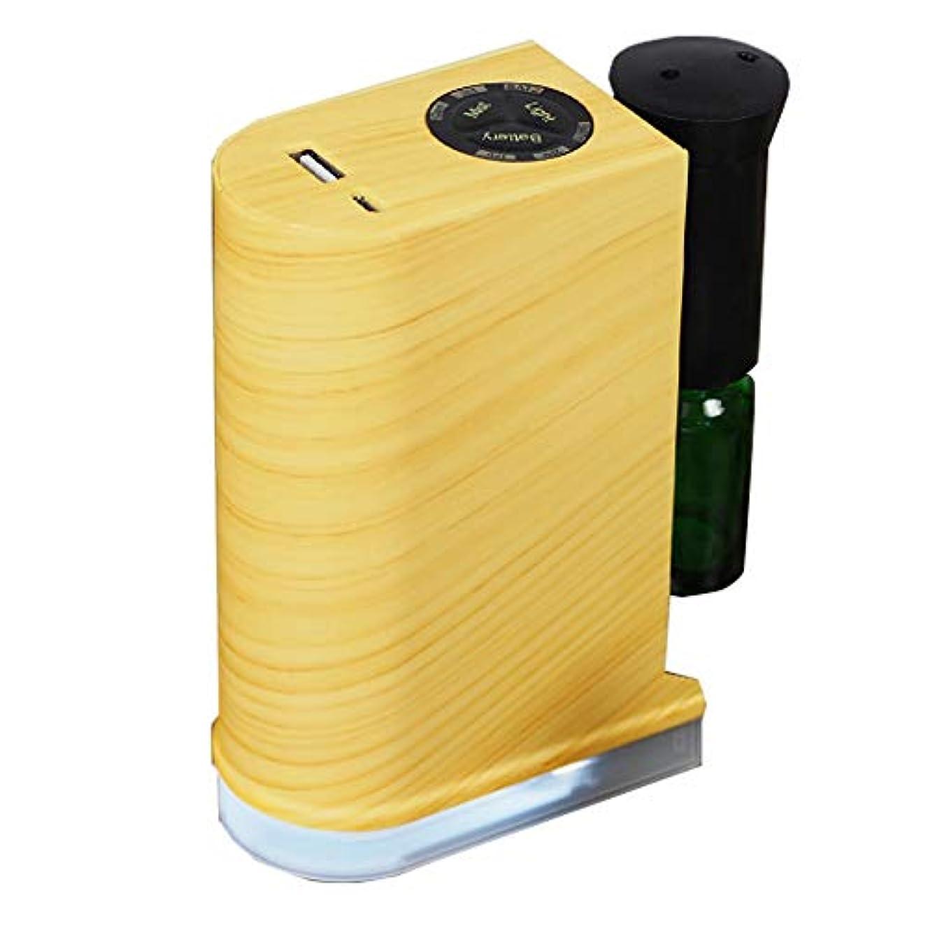 加速する吸収剤深く木目調ネブライザー式ディフューザー【ナチュラル】 / Q-001-NA / ###アロマQ-001ナ###
