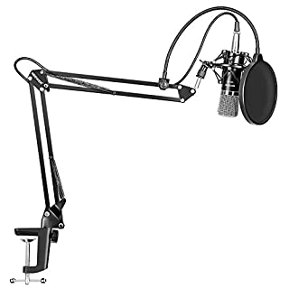 Neewer NW-700 Professional Studio Broadcasting Recording Condenser Microphone & NW-35 Adjustable Recording Microphone Suspension Scissor Arm Stand with Shock Mount and Mounting Clamp Kit (B00XOXRTX6) | Amazon price tracker / tracking, Amazon price history charts, Amazon price watches, Amazon price drop alerts
