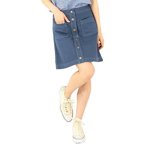 (レイビームス) Ray BEAMS / ボタンフロント Aライン スカート 63270154166  ブルー 0