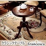 アンティーク調クラシック家具シリーズ francesca フランチェスカ:クラシックテーブル ブラウン