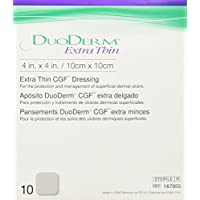 Duoderm Cgf Extra Thin Dressing 4 Inches X 4 Inches - 10 Per Pack by ConvaTec