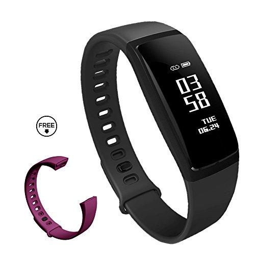 スマートウォッチ 活動量計 心拍計 血圧 歩数計 スマートブレスレット IP67防水 着信 Line SMS 通知 心拍異常 アラーム 日本語説明書