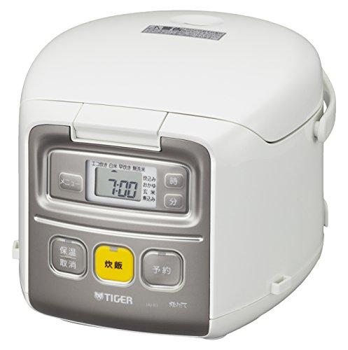 タイガー マイコン 炊飯器 3合 ホワイト 炊きたて ミニ ...
