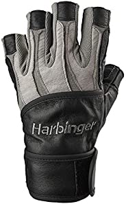 Harbinger Men's BioForm WristWrap Weightlifting Glove with Heat-Activated Cushioned Palm (P