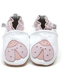 Soft Leather Baby Shoes Ladybird [ソフトレザーベビーテントウムシシューズ] 3-4 years (16.5 cm)