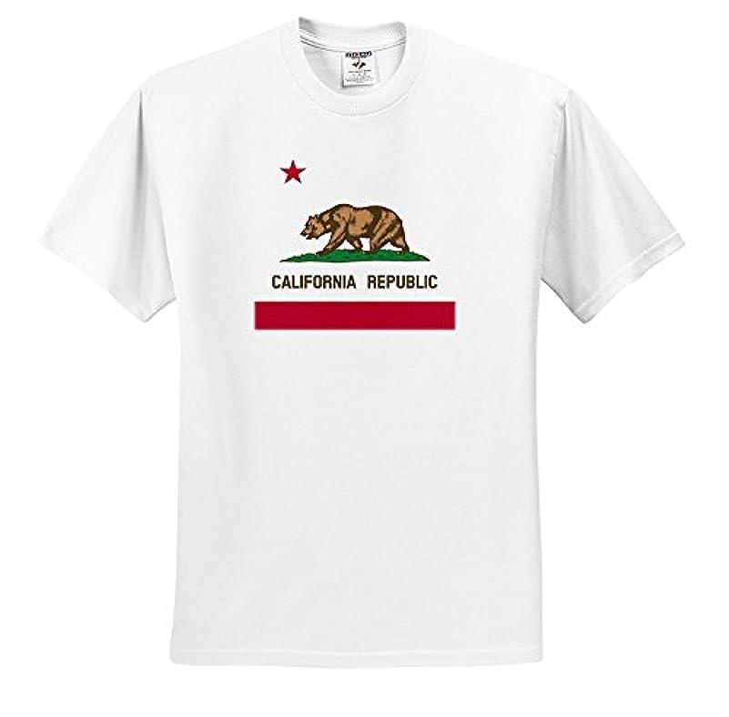 冗長導入する羊飼い国旗アメリカ合衆国カリフォルニア州アメリカ合衆国アメリカ州ベアフラッグ白いTシャツ
