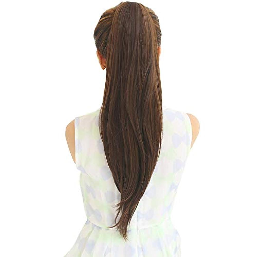 盲目ふざけた角度SRY-Wigファッション ウィッグポニーテール女性ロングストレートヘアバンドリアルヘアロングヘアインビジブルナチュラルスコーピオン完全な人間の髪の毛