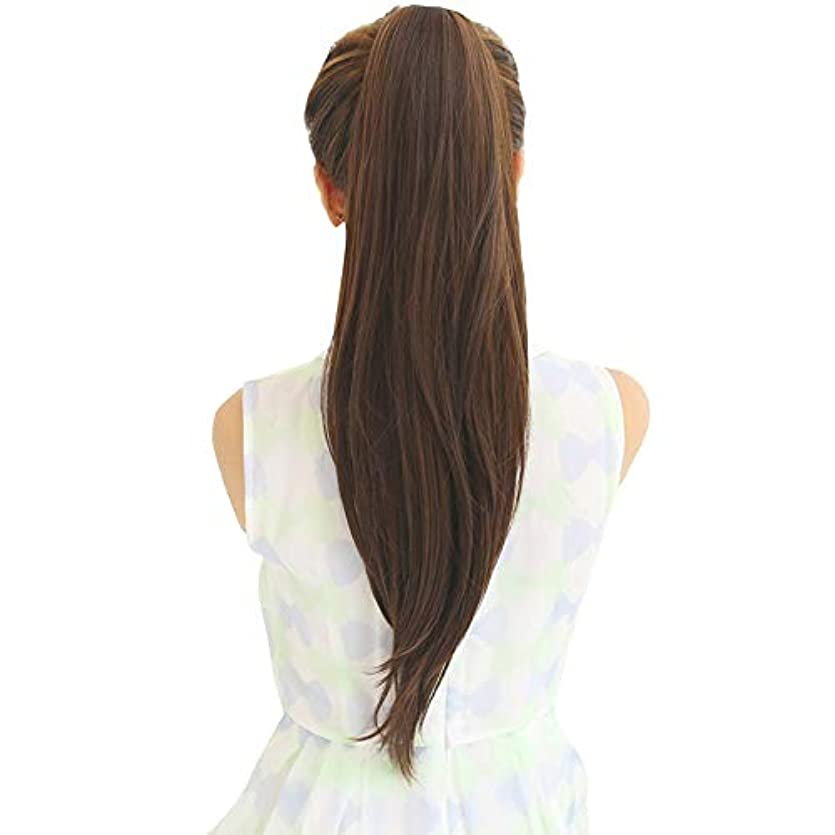 SRY-Wigファッション ウィッグポニーテール女性ロングストレートヘアバンドリアルヘアロングヘアインビジブルナチュラルスコーピオン完全な人間の髪の毛