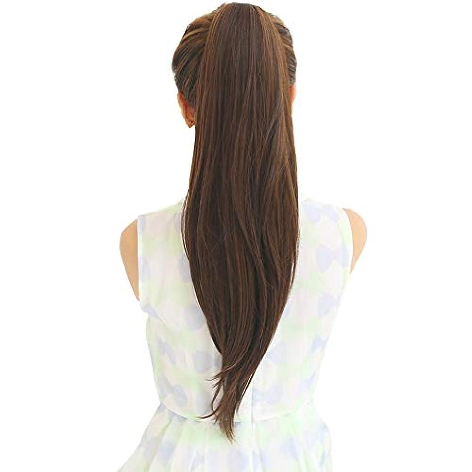 古代不和主婦SRY-Wigファッション ウィッグポニーテール女性ロングストレートヘアバンドリアルヘアロングヘアインビジブルナチュラルスコーピオン完全な人間の髪の毛