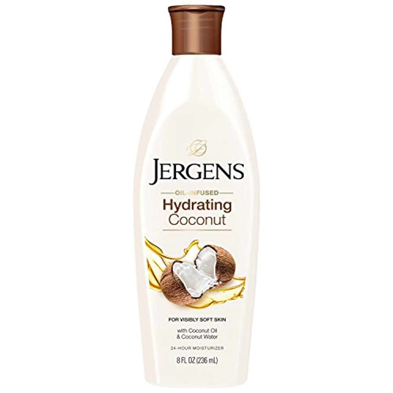 知らせる北理想的Jergens 水和ココナッツドライスキンモイスチャライザー、8オンス(包装変更になる場合があります)
