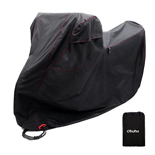 Ohuhu バイクカバー 300Dオックス製 大型 3Lサイズ バイク バイク用 カバー 高品質DT...