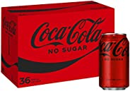Coca-Cola No Sugar Soft Drink Multipack Cans 36 x 375mL (Packaging may vary)