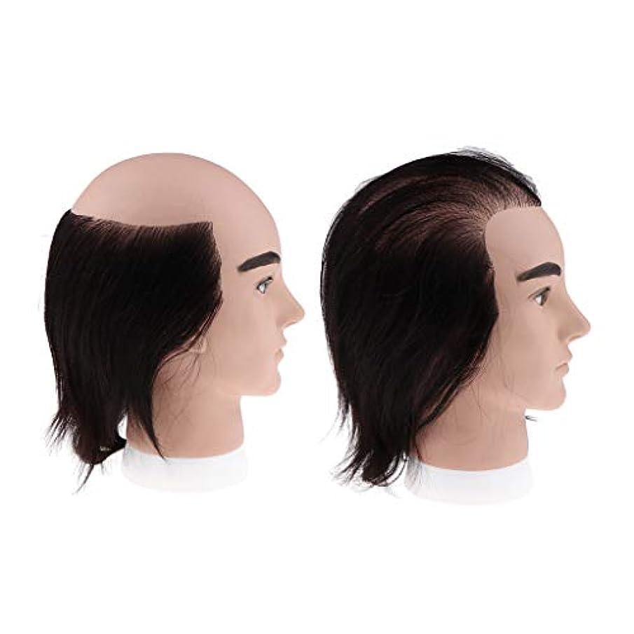 宙返り別々に共感するToygogo 2種類7.9インチ化粧品男性マネキンヘッド理髪店スタイリングカット織り織り練習