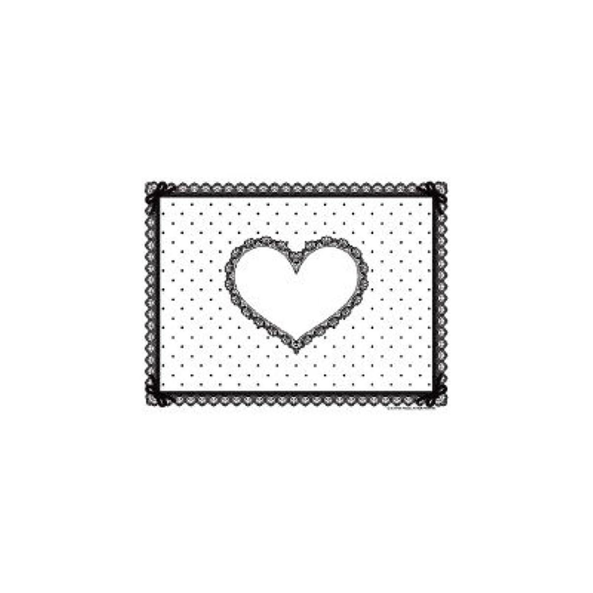 カード縮約適応シリコン ネイルマット ホワイト×ブラック ミニサイズ