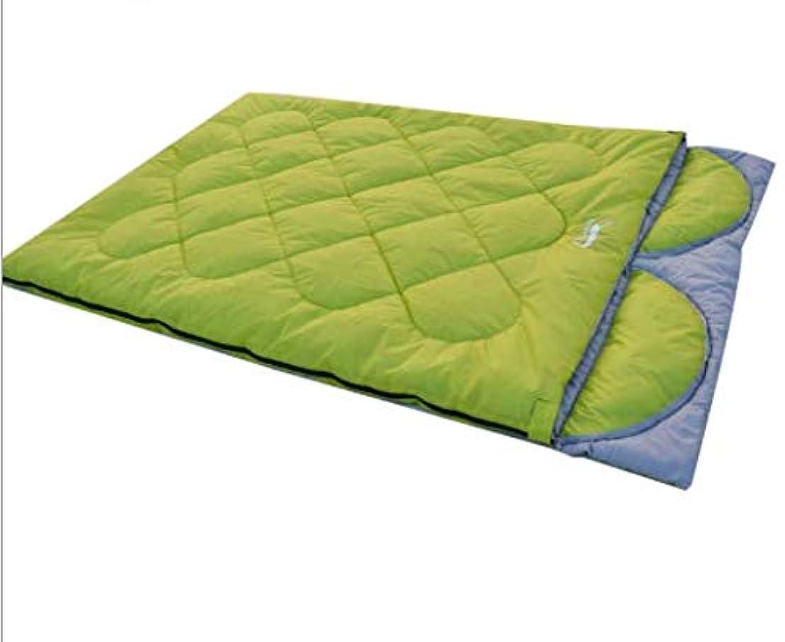 現代のフォームレギュラー秋と冬のモデルダブル屋外カップル寝袋ファッション風取り外し可能な枕キャンプ寝袋キャンプ寝袋