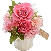 花由 プリザーブドフラワー ギフト バラ パレット ミルキーピンク C5 マケプレプライム便