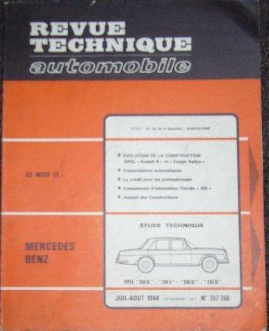Rta 267.2 Mercedes 230 SL-250 S-250 SE et 250 SL(63/68)
