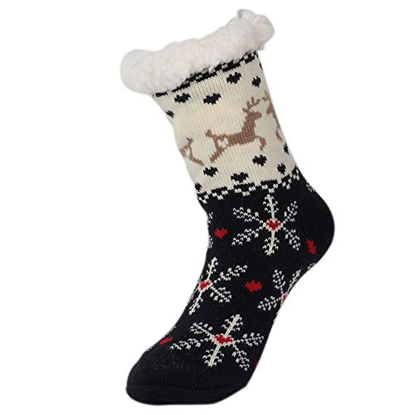 動物奇跡的な本会議スリッパソックス、ぬいぐるみの裏地ファジィソックス、冬の女性の滑り止めフリース裏地スリッパソックス、女性のための柔らかい居心地の良い綿ニットソックス女の子クリスマスクリスマスギフト屋内