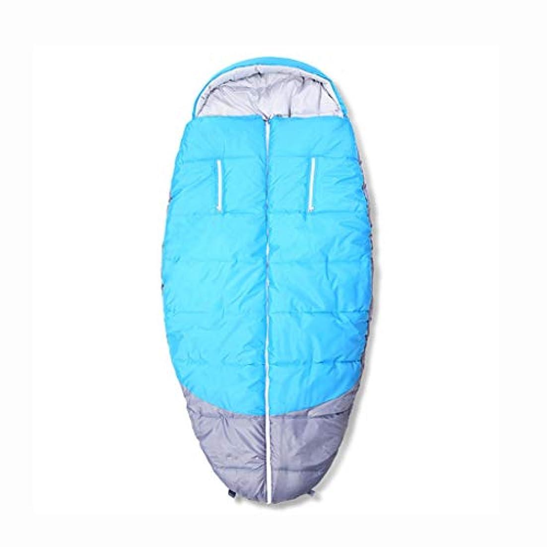 節約するりビバLCSHAN 寝袋ポリエステル耐久性のある便利な屋外キャンプ大人の多機能の肥厚 (色 : A)