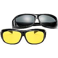 BOZEVON Wear Over Sunglasses For Men Women - Polarized Night Vision Glasses Fit Over Prescription Glasses UV Wind Protection