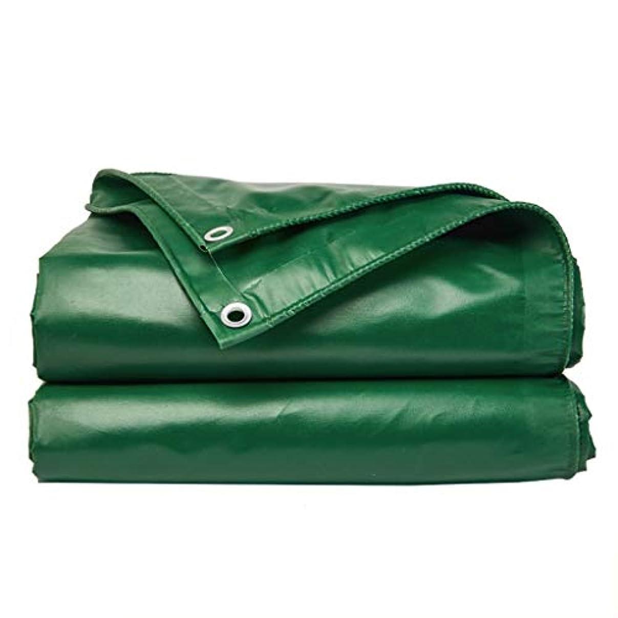 概して写真の可能性厚めの防水布トラック防水日除けターポリン屋外車キャンバスレインクロスターポリン防水布ターポリン (Color : Green, Size : 3x4m)
