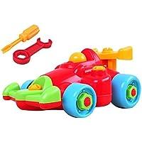 Linshop トラックのおもちゃ赤ちゃんリムーバブル?アセンブリのネジを1~3歳競馬解体?ファンシー
