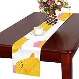 GGSXD テーブルランナー すばしこい ひよこ クロス 食卓カバー 麻綿製 欧米 おしゃれ 16 Inch X 72 Inch (40cm X 182cm) キッチン ダイニング ホーム デコレーション モダン リビング 洗える