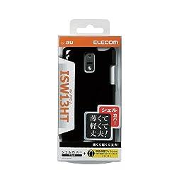 ELECOM au HTC J ISW13HT用シェルカバー ブラック PA-HT13PVBK