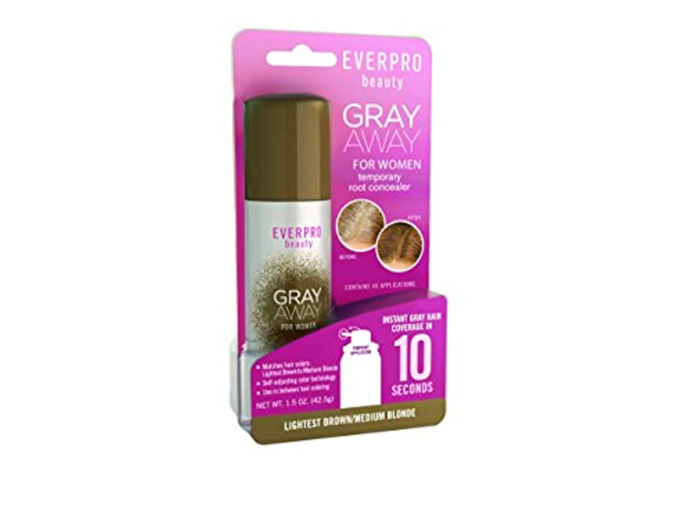 Gray Away Womens Everpro一時的なルートコンシーラー、最軽量ブラウン/ブロンド、1.5オンス