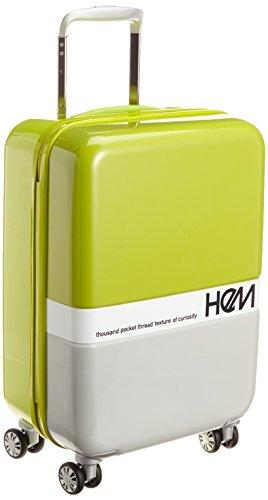 [ヘム] HeM スーツケース キャビンサイズ TSAロック ジッパータイプ フラスコS 39-50034 (ライトグリーン)