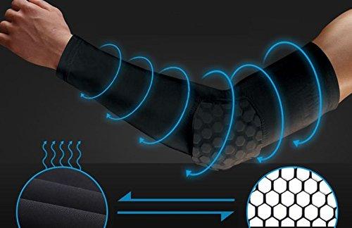 POT パッド 入り アームスリーブ 2個セット 吸汗 速乾 コンプレッション パワーアームスリーブ サポーター ブラック サイズ M L XL POT
