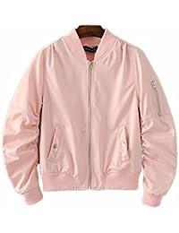 (リッチココ)RICHCOCO 春のMA-1 レディース アウター 薄手 ジャケット リブ付き ブルゾン ミリタリージャケット 9色
