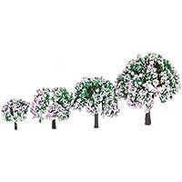 SONONIA 8pcs 4サイズ  ホビー 模型用 樹木 鉄道模型  木 モデル 景観モデル 4cm-10cm