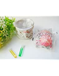 Happy キャンドルセット セットでお得 天使のキャンドルホルダー キャンドル メモリーオイルプレゼント