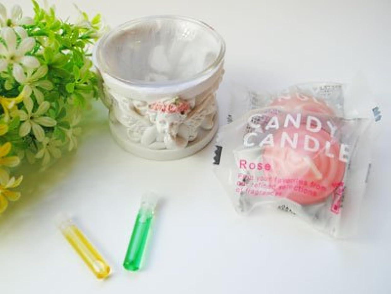 請う類似性皮Happy キャンドルセット セットでお得 天使のキャンドルホルダー キャンドル メモリーオイルプレゼント