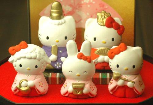 【雛人形/ひな人形】ハローキティ 雛飾りセット