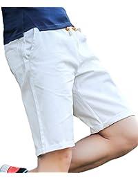[meryueru(メリュエル)] スマート シルエット カジュアル ハーフ チノ パンツ 春 夏 秋 ファッション メンズ