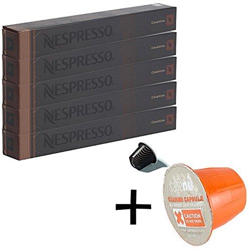 (유익 세트/세제 샘플1 개부착)NESPRESSO 네스프레소 캡슐 커피 《초카티노》 1개 10캡슐x5개 세트  -
