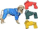 (エムズダイス)M's Dice 大型 中型 犬 用 レインコート 雨具 カッパ 《4カラー3サイズ》 (02.ブルー 5XL)