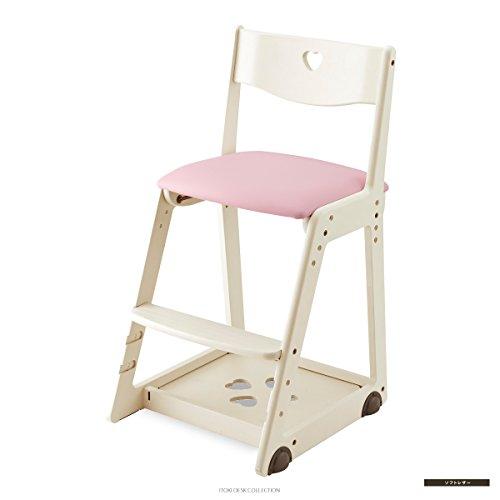 ITOKI(イトーキ) KM36 木製チェア ソフトレザー・バーチ材 (ナチュラルホワイト・ピンク)