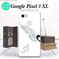 Google Pixel 3 XL スマホケース カバー 翼(ペア) 白(左) 【対応機種:Google Pixel 3 XL】【アルファベット [Y]】